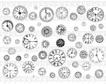 Steampunk Clock Clipart.