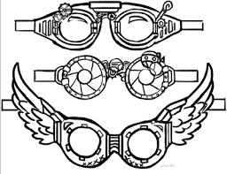 Image result for steampunk goggles clipart.