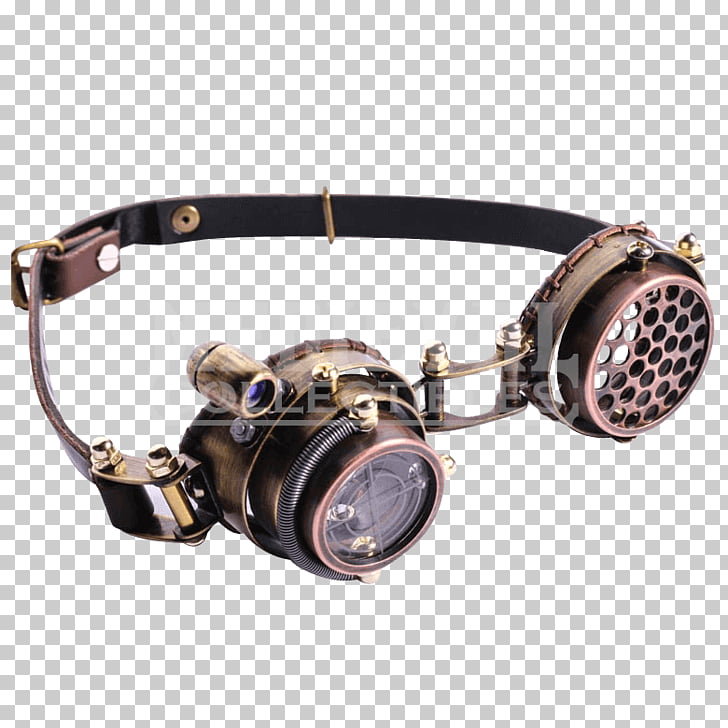 Steampunk Goggles Sunglasses Light, GOGGLES PNG clipart.