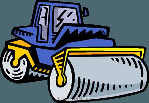 steam roller Royalty Free Vector Clip Art illustration.