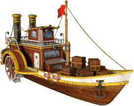 Archimedes Cargo Steamship.