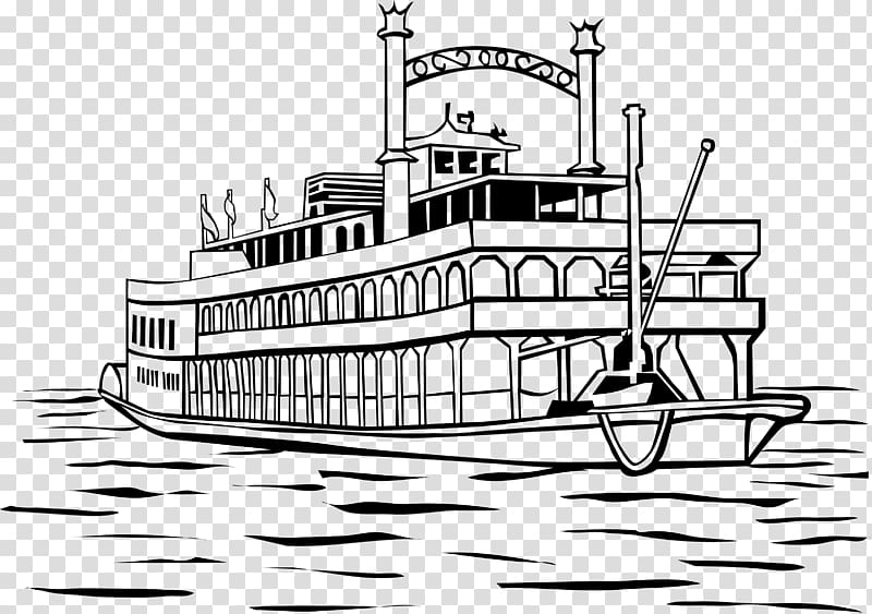 New Orleans Motor ship Steamboat , boat transparent.