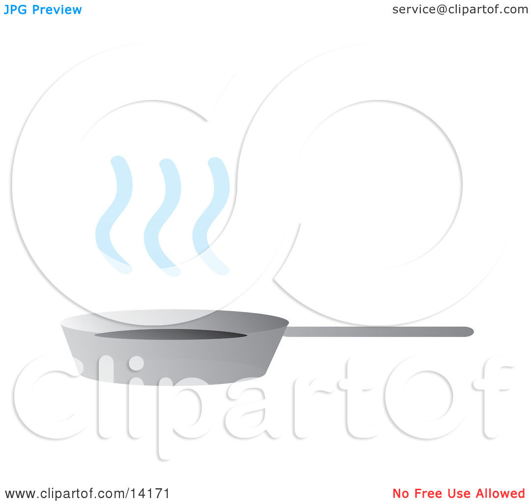 Pan With Steamy Hot Ingredients Food Clipart Illustration by.