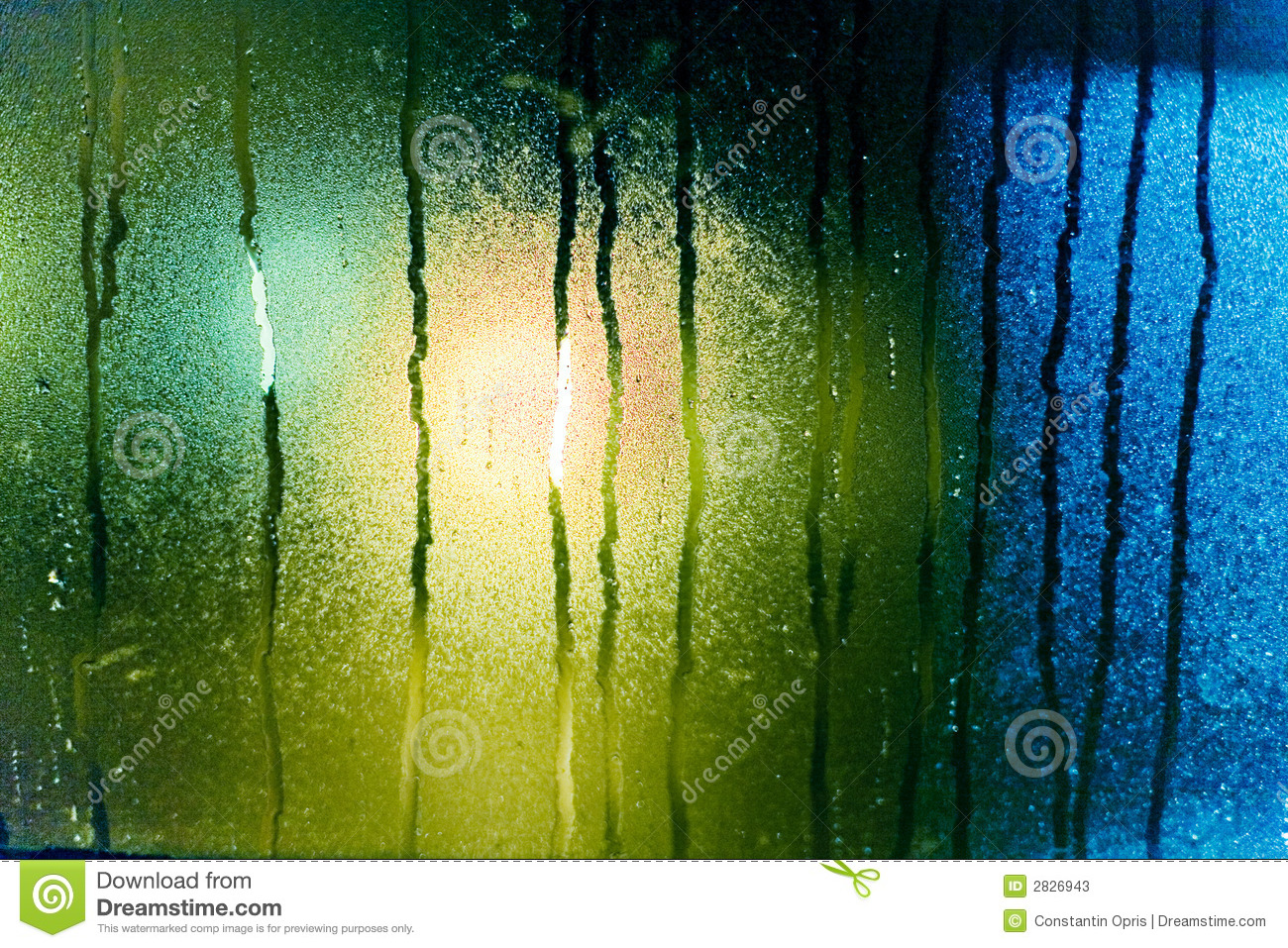 Water Drops On Steamy Glass Stock Photos.