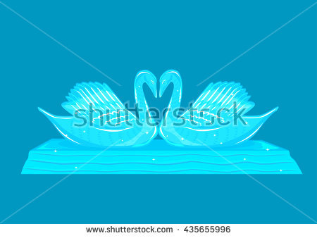 Crystal Swan Stock Photos, Royalty.