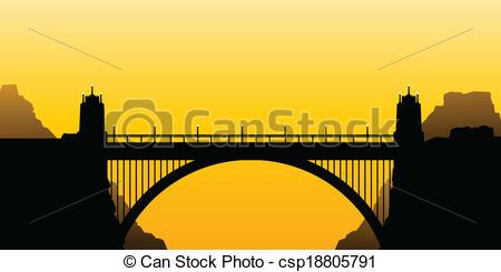 Arch bridge Vector Clipart EPS Images. 654 Arch bridge clip art.