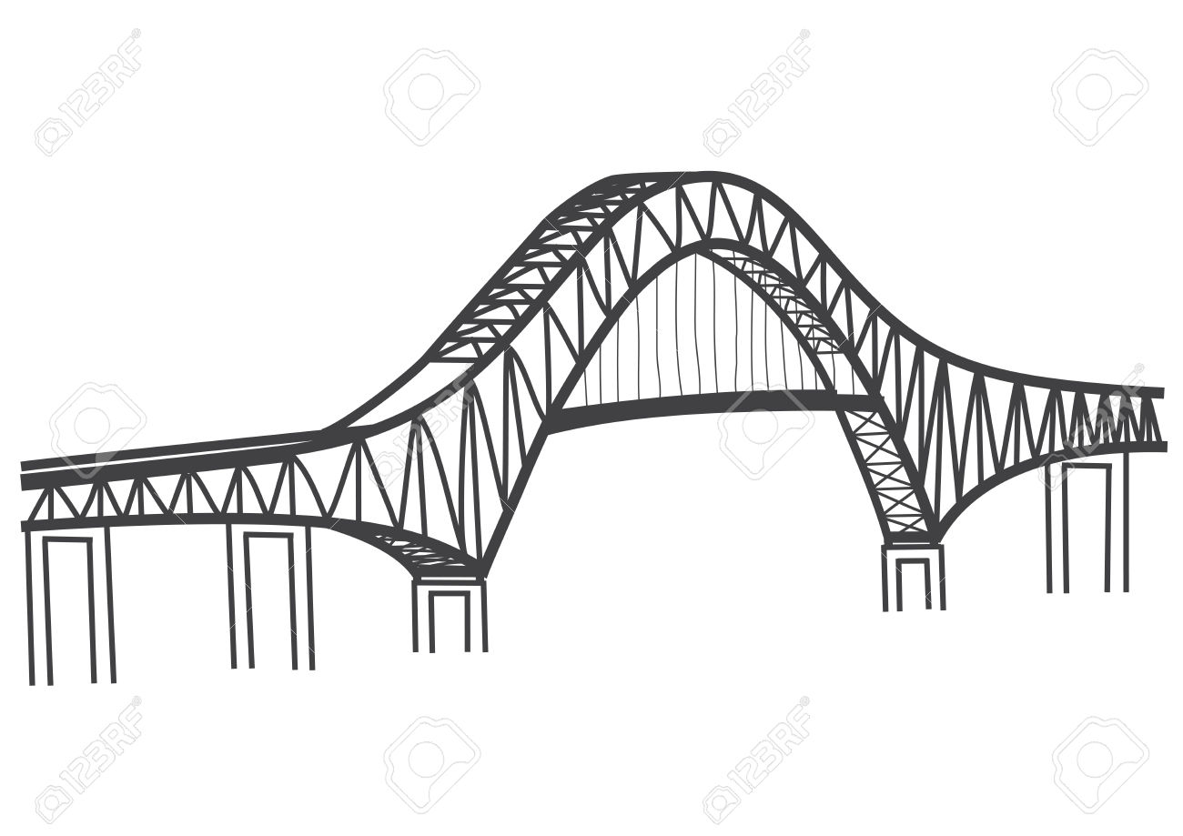 Thatcher Ferry Bridge Illustration Royalty Free Cliparts, Vectors.
