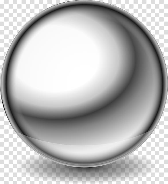 Steel Ball Metal , glossy transparent background PNG clipart.