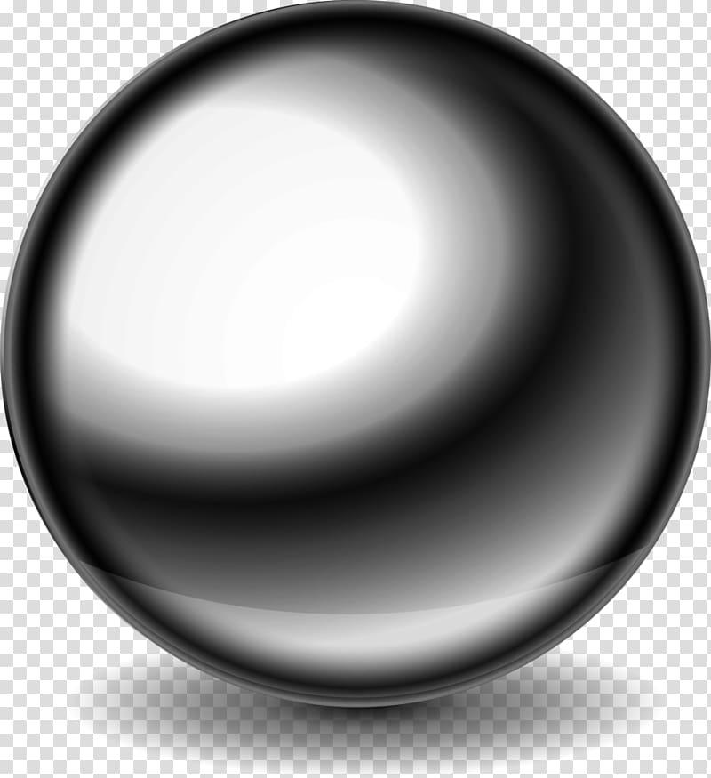 Ball Steel Sphere Metal, steel transparent background PNG.