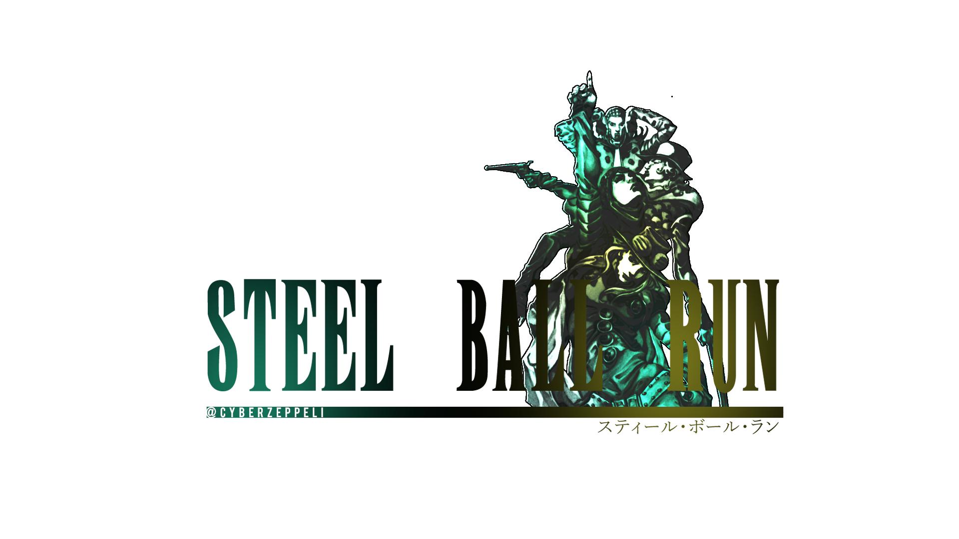 Fanart]I made a Steel Ball Run with Final Fantasy Style Logo.
