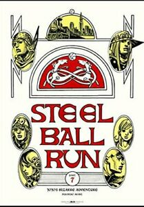 Details about B2 Poster JoJo\'s Bizarre Adventure Part 7 Steel Ball Run  \