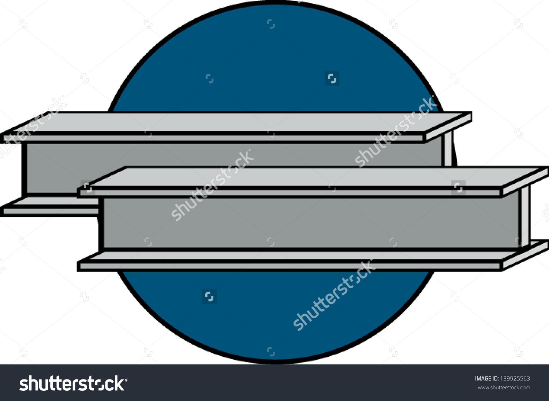 Construction Steel Beams Stock Vector 139925563.
