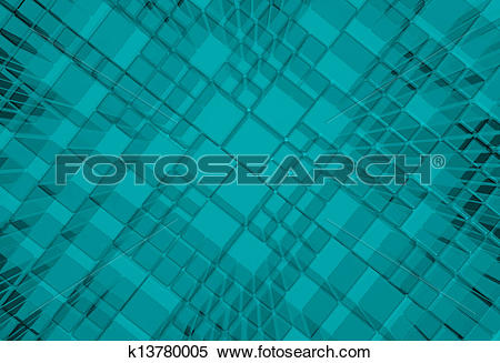 Stock Image of Steel blue cube mesh metal plate background.