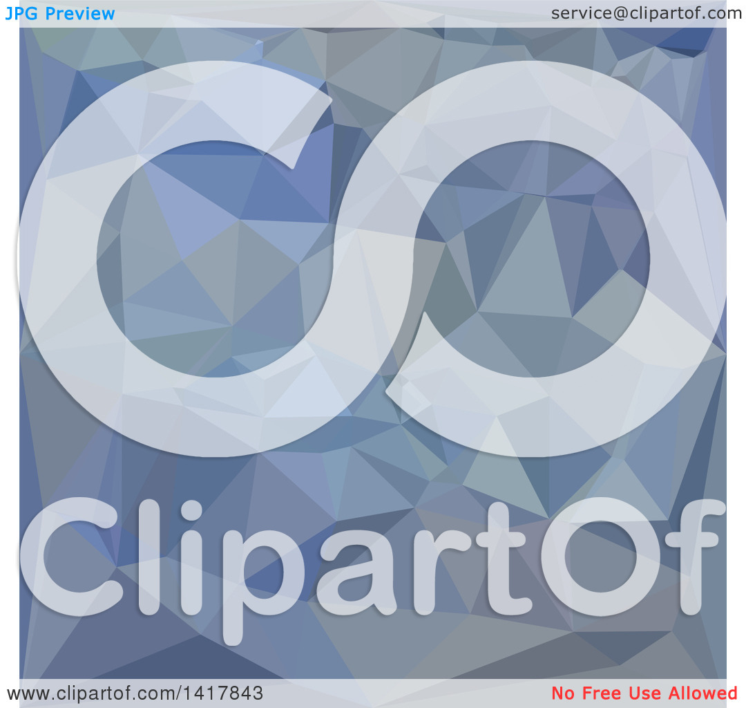 Clipart of a Low Poly Abstract Geometric Background in Light Steel.