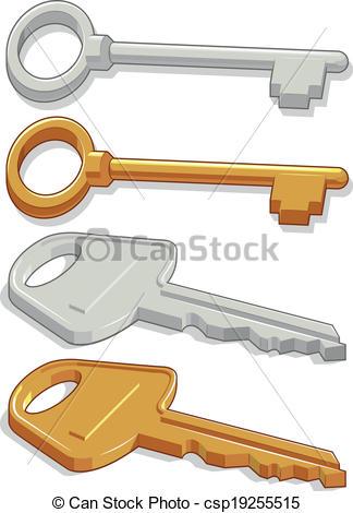 Vector Clip Art of Keys.