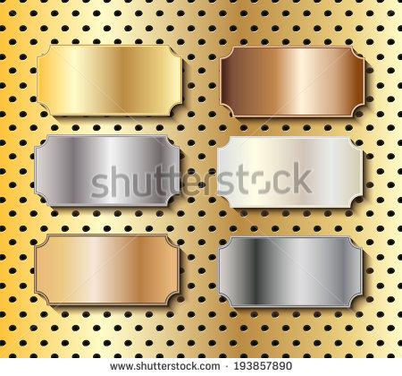 Brass Plaque Stock Photos, Royalty.