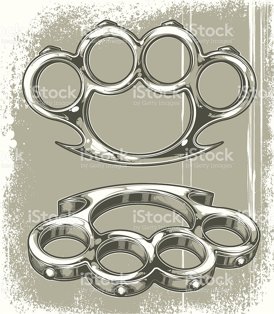 Brass Knuckles stock vector art 165760053.