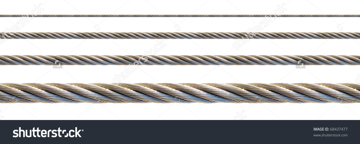 Seamless Steel Cable Set Continuous Elongation Stock Photo.