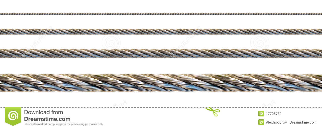 Seamless Steel Cable. Royalty Free Stock Images.