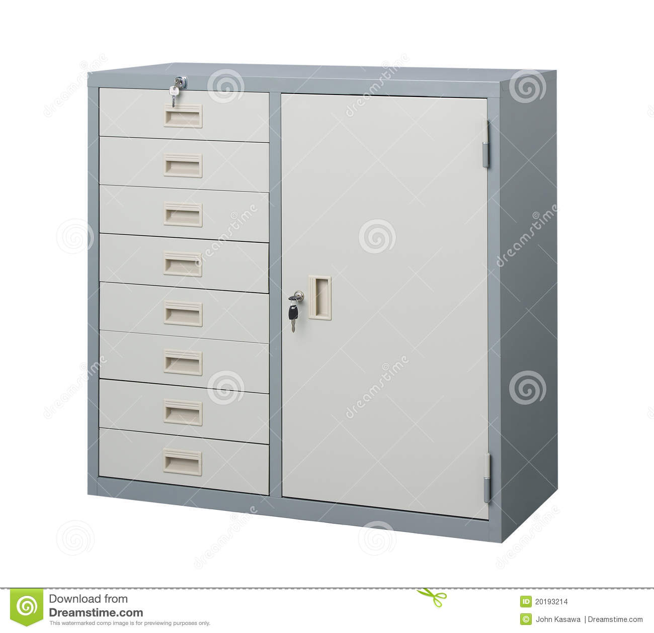 Cabinet Steel Furniture Stock Images.