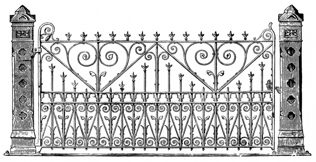 2353 Gate free clipart.