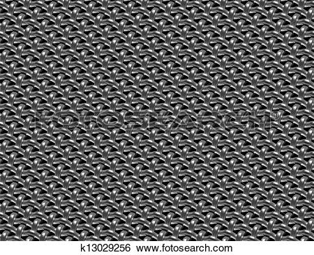 Stock Illustration of Braided wire steel grid industrial seamless.