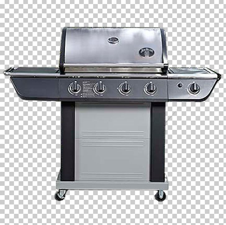 Barbecue Smoking Gas Burner Stainless Steel Grilling PNG.