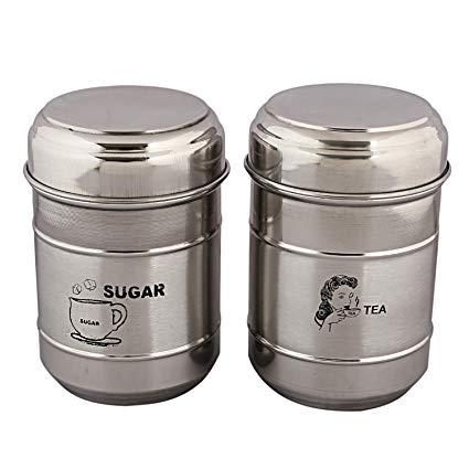 Kuber Industries Stainless Steel Sugar Tea Container Set, 2.
