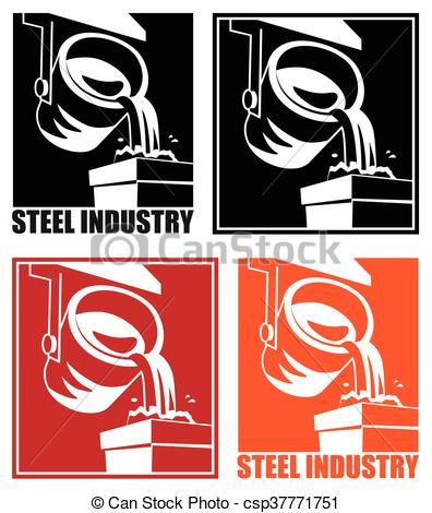 Clipart Vector of steel industry.