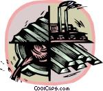 steel industry Vector Clip art.