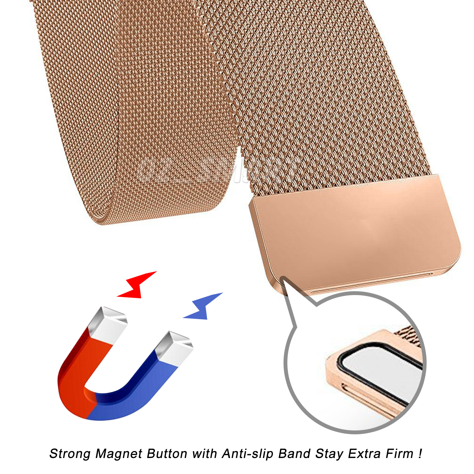 Metal Stainless Steel Milanese Loop Wristband Strap For Fitbit.