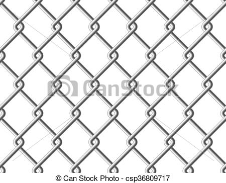 Vector Clip Art of Steel mesh metal fence seamless structure.