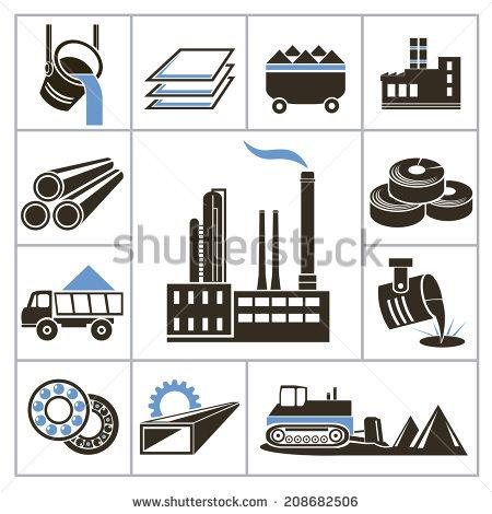 Steel Industry Stock Photos, Royalty.