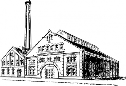 Old Factory clip art vector, free vector graphics.