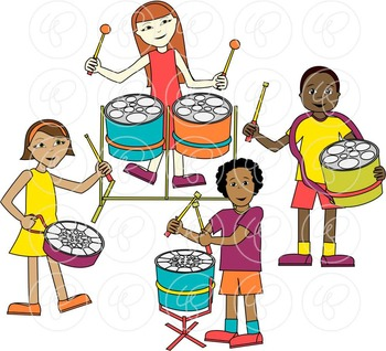 Steelpan Band Clipart by Poppydreamz.