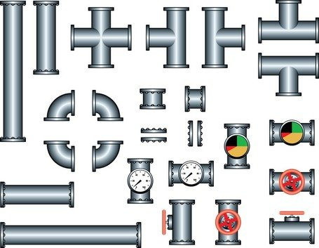 Steel Iron Pipe, free vector.