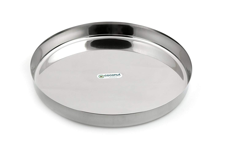 Buy Coconut Stainless Steel Dinner Plate/Thali.
