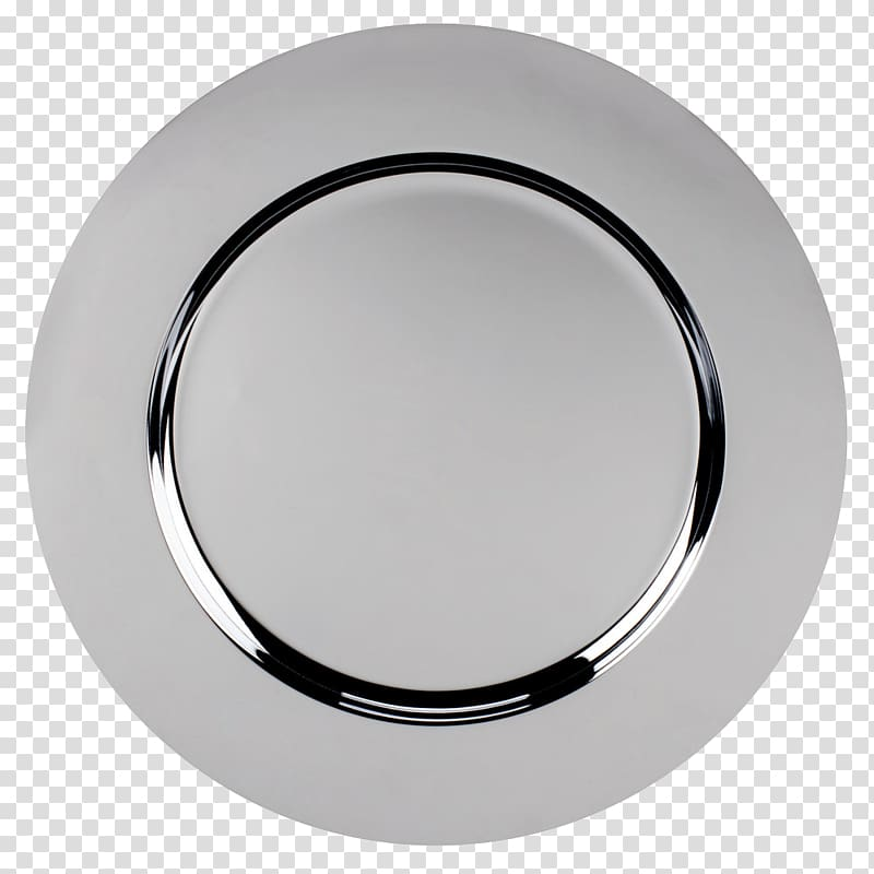 Round ceramic plate, Table Charger Plate Chrome plating.