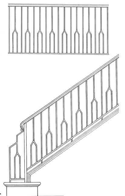Stair Railing Designs ISR603.