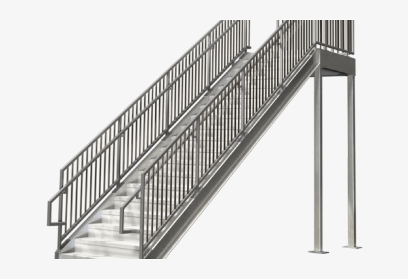 Stairs Clipart Steel Railing.