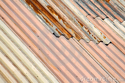 Rusty Metal Roof Stock Images.