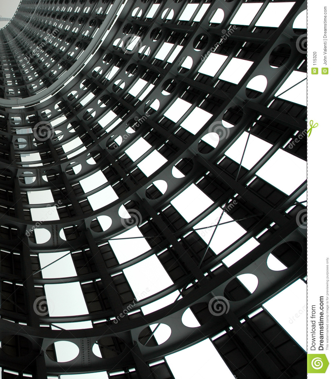 Steel Structure Stock Photo.