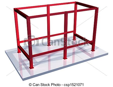 Clipart of Impossible steel frame.