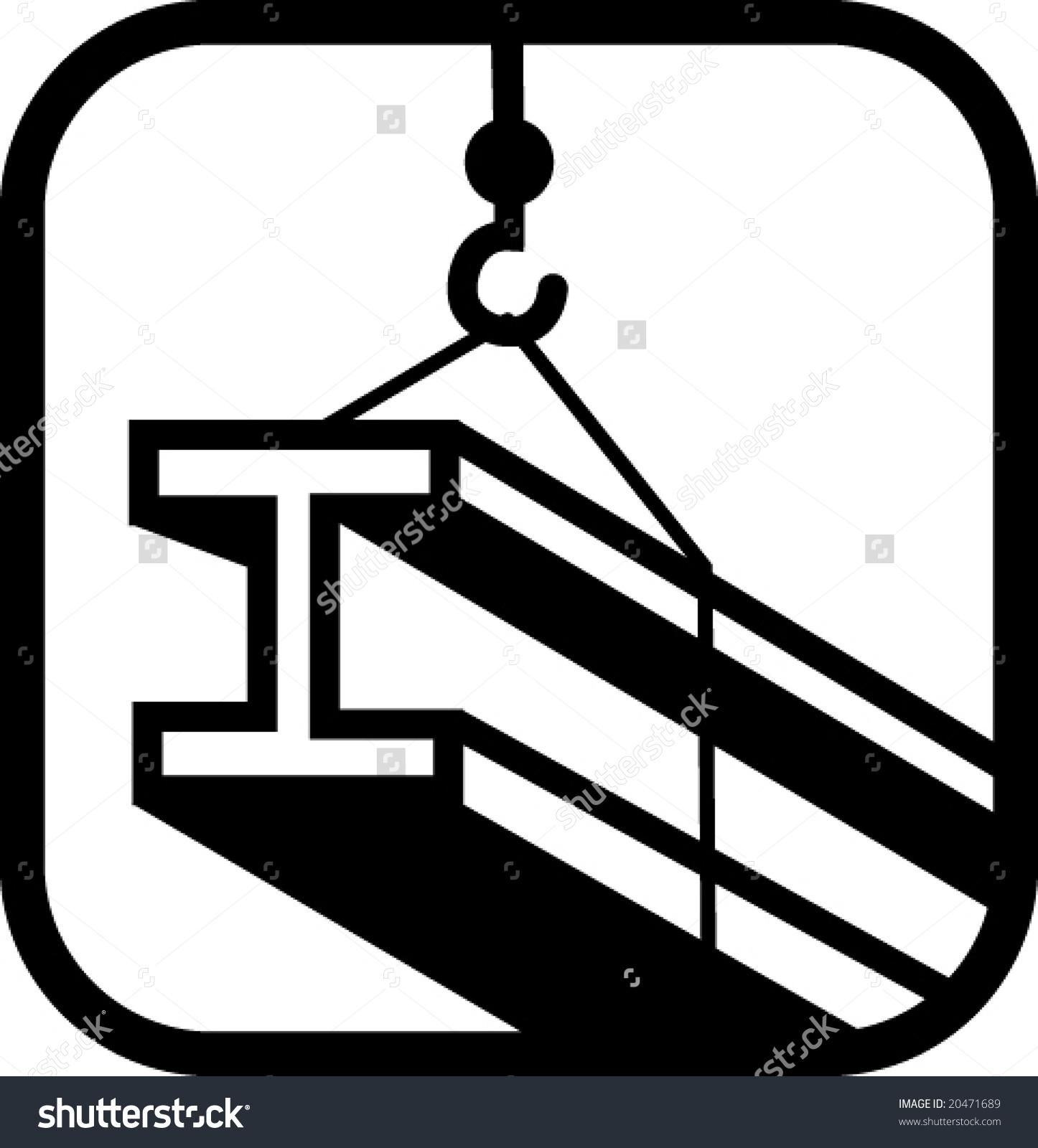 Structural Steel Hoist Crane Vector Stock Vector 20471689.
