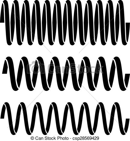Steel spring Clipart Vector Graphics. 723 Steel spring EPS clip.