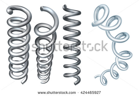 Metal Spring Stock Images, Royalty.