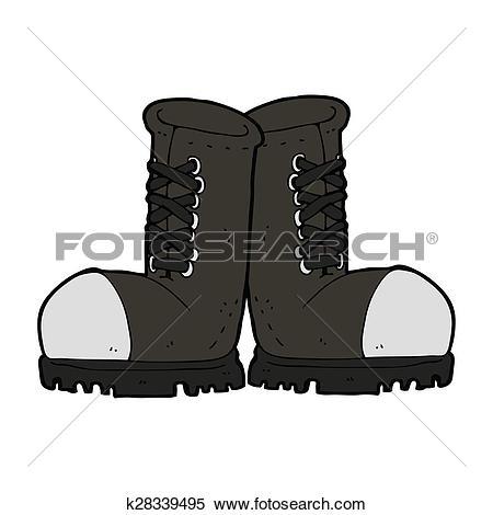 Stock Illustration of cartoon steel toe cap boots k28339495.
