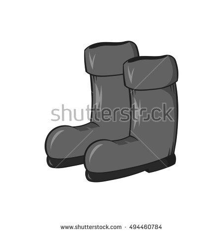 Cartoon Steel Toe Cap Boots Stock Vector 273765809.