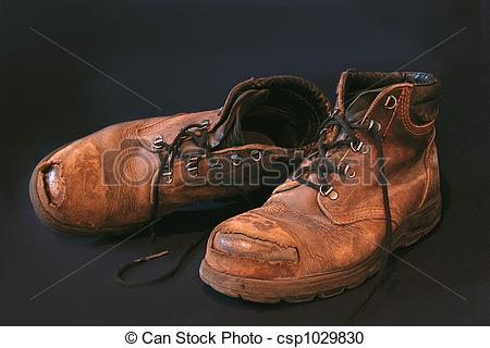 Stock Photography of Old Boots 2.