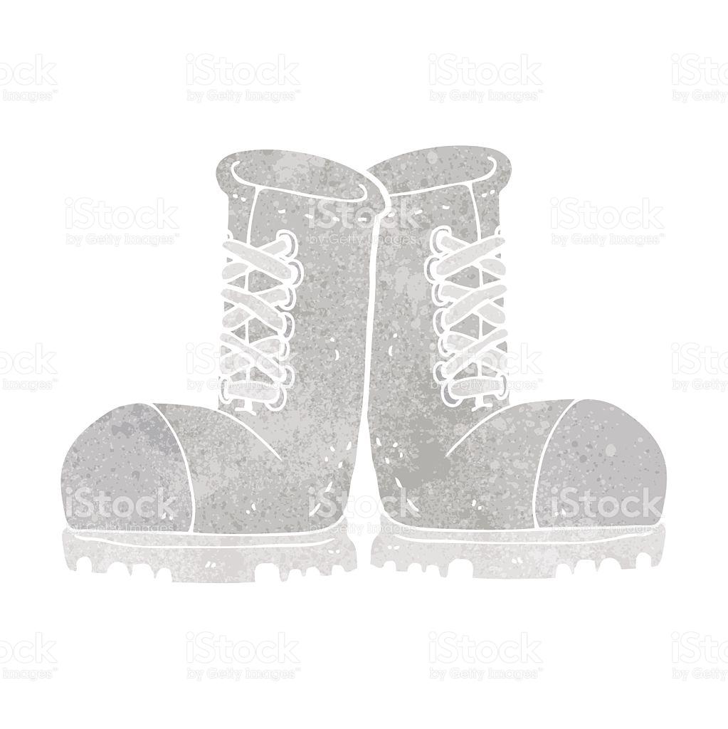 Cartoon Steel Toe Cap Boots stock vector art 475020246.